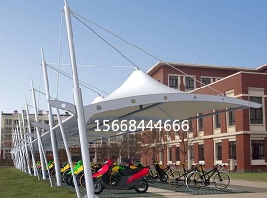 山东膜结构自行车棚