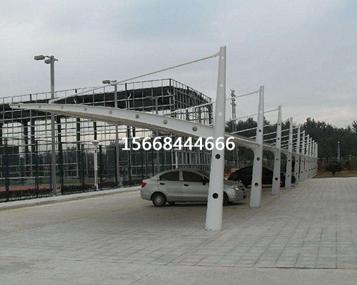 工业园膜结构汽车棚