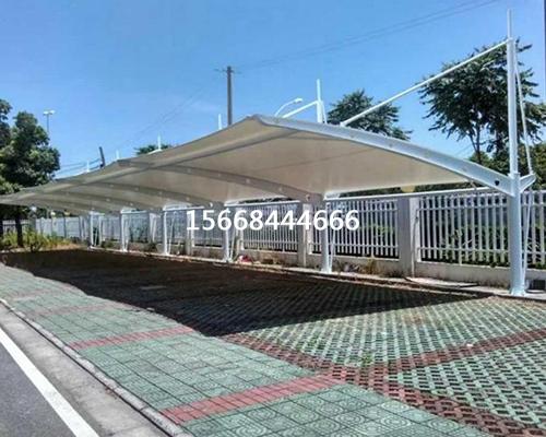 泰安厂区膜结构汽车棚