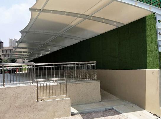 德州膜结构自行车车棚