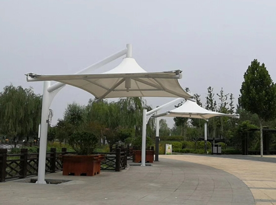 聊城膜结构吊伞遮阳棚