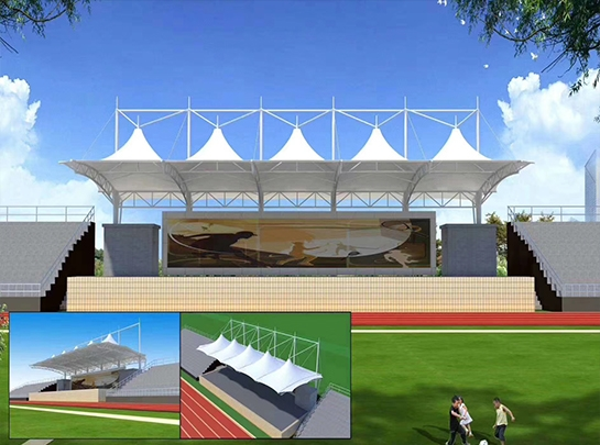 德州体育场看台膜结构