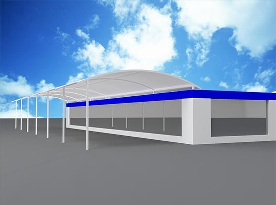 德州膜结构车棚